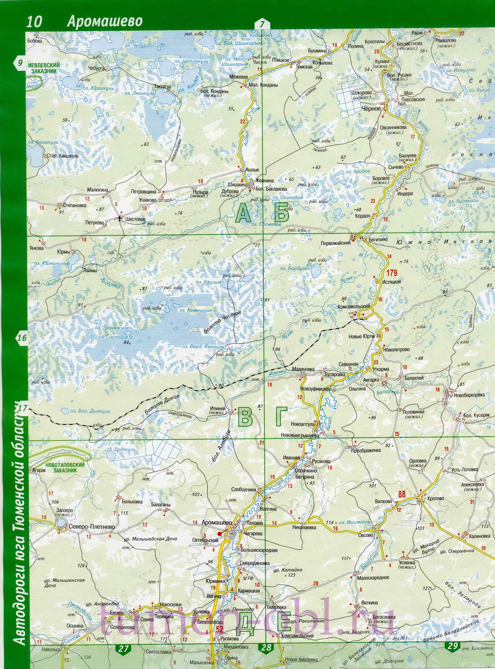 Карта аромашевского района. подробная карта дорог - аромашев.