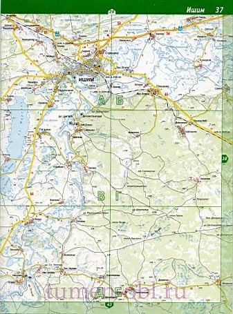 Карта ишимский район тюменской